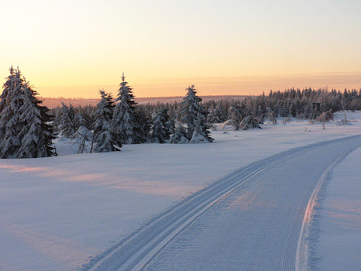 Krušnohorská magistrála v zimě