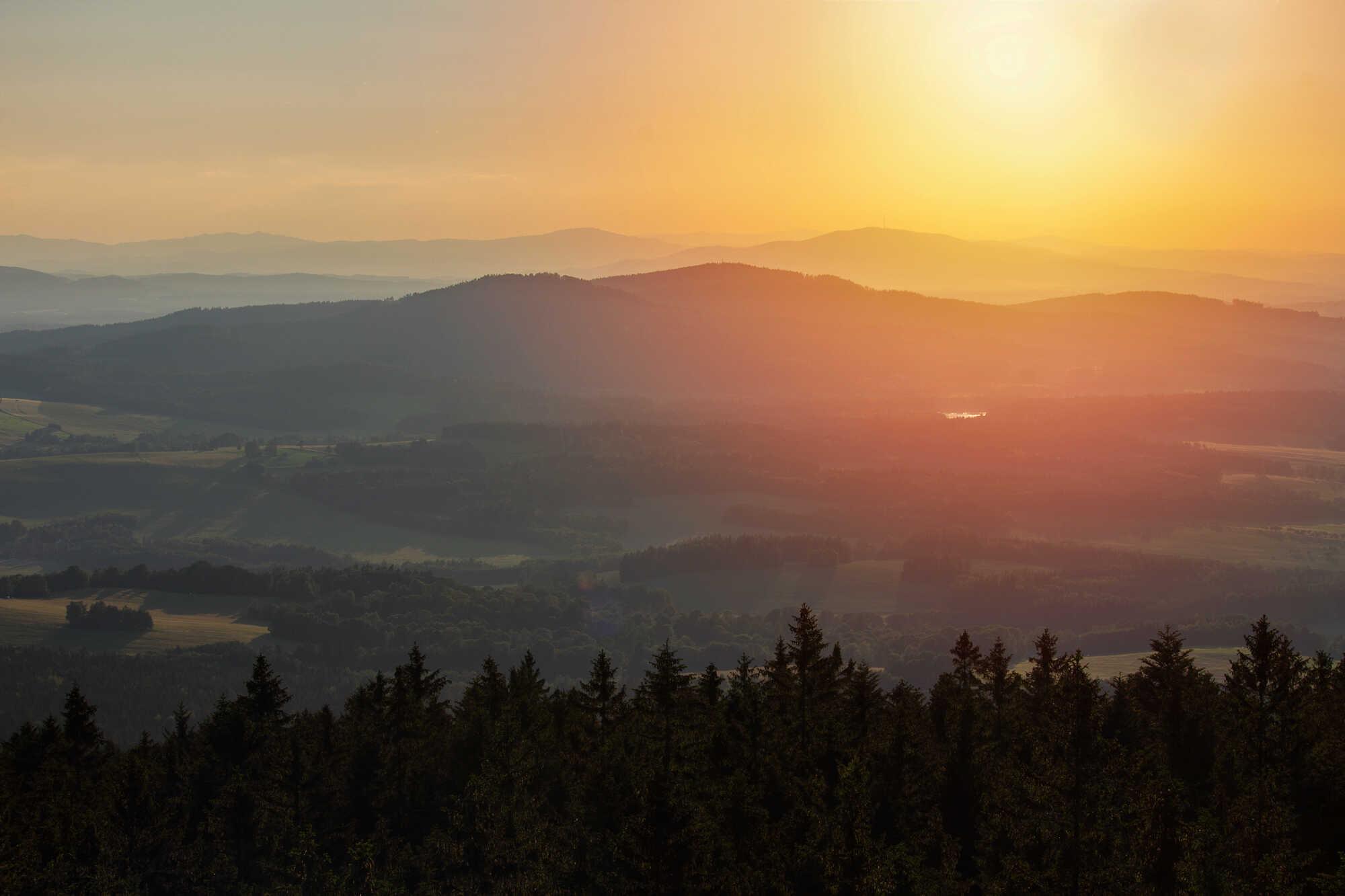 Výhled na Novohradské hory