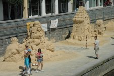 Pisek - sand sculpture